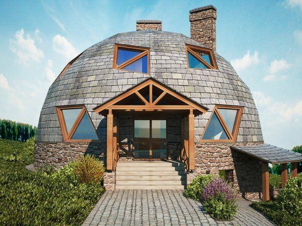 Pin de   en   Pinterest  Dome house
