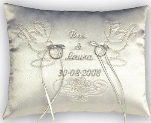 Personalised Wedding Ring Cushions Great Gift