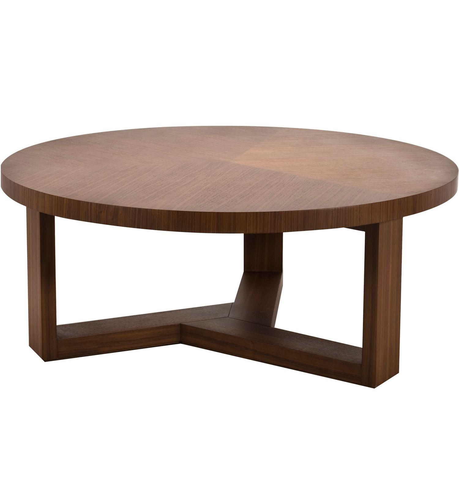 Simple But Awesome Wooden Round Coffee Table Idea With Round Wood Top And Three Wood Legs Idea Round Wood Coffee Table Round Coffee Table Coffee Table Wood