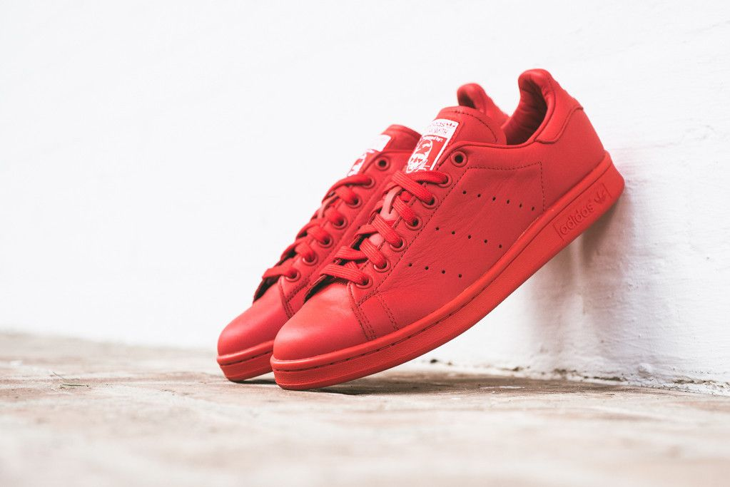 adidas stan smith red solid