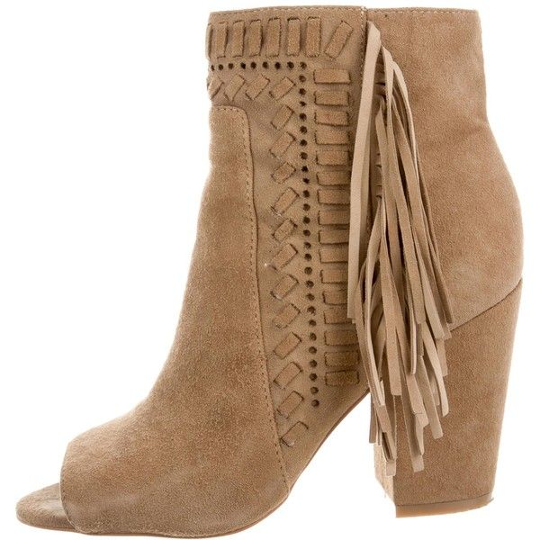 Pre-owned Rebecca Minkoff Iris Fringe-Trimmed Boots (€85) ❤ liked ...