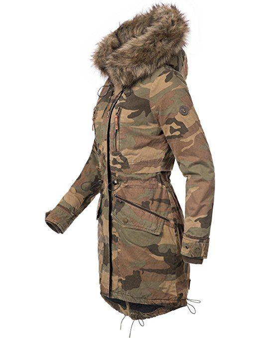 Khujo Damen Winter Mantel Winterparka Ym Ja 3 Farben Camouflage Xs Xxl Amazon De Bekleidung Khujo Damen Winterparka Mantel Frauen