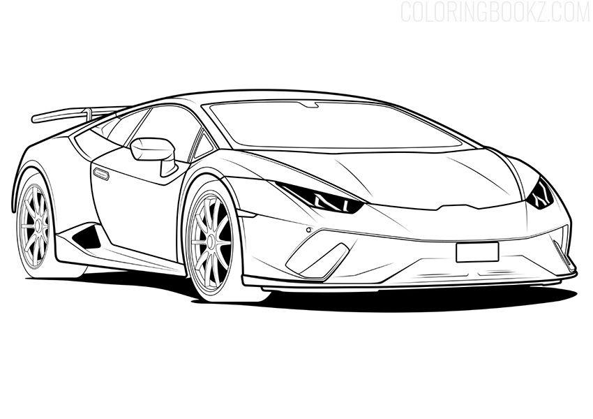 Lamborghini Coloring Page Coloring Pages Line Art Coloring Books