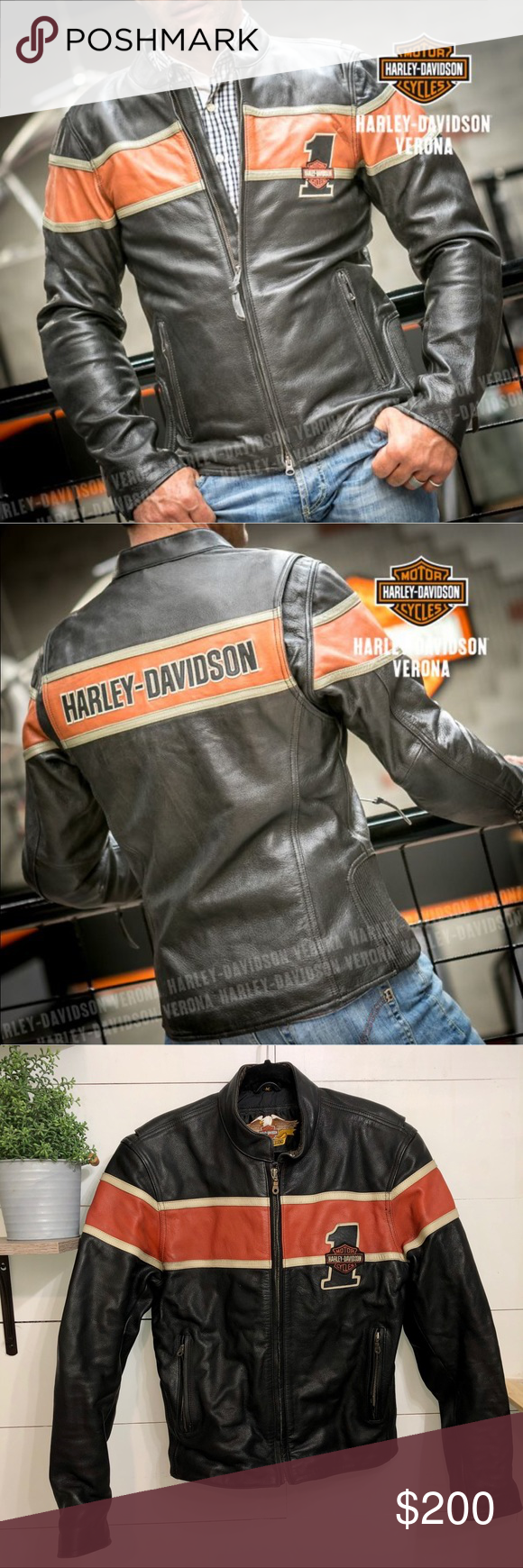 Harley Davidson Victory Lane Leather Jacket Harley