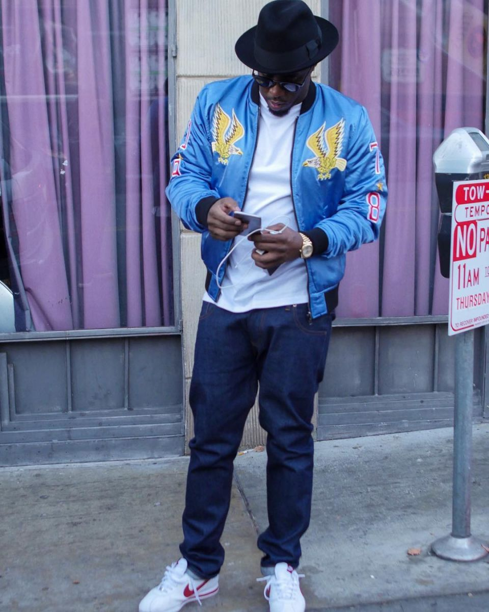 super cheap super quality running shoes Puff Daddy wearing the 'Forrest Gump' Nike Cortez ...