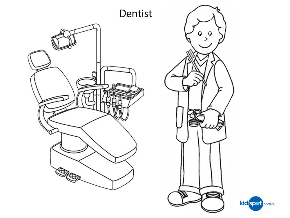 Dentist coloring page Dentist, Coloring pages, Coloring