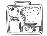 Healthy Lunchbox Colouring Page From Www Funprintablesforkids Com
