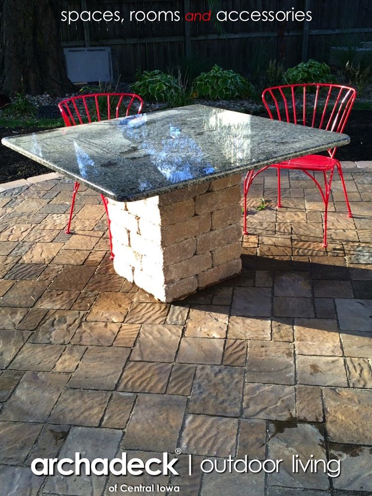 Re Purposed Granite On Patio Table   Des Moines (Clive)   Design Ideas