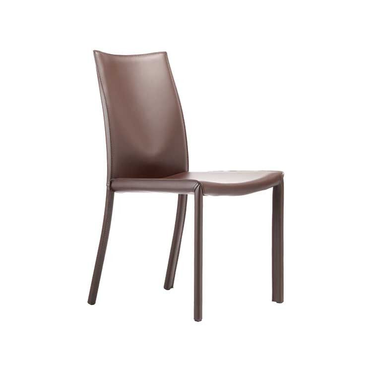 Swell Modern Leather Simple Dining Chair Orange Seattle Download Free Architecture Designs Viewormadebymaigaardcom