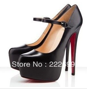 Aliexpress.com : Buy black PU Leather platform pumps , platform high heels with belts from Reliable platform high heels suppliers on Guccn $30.38