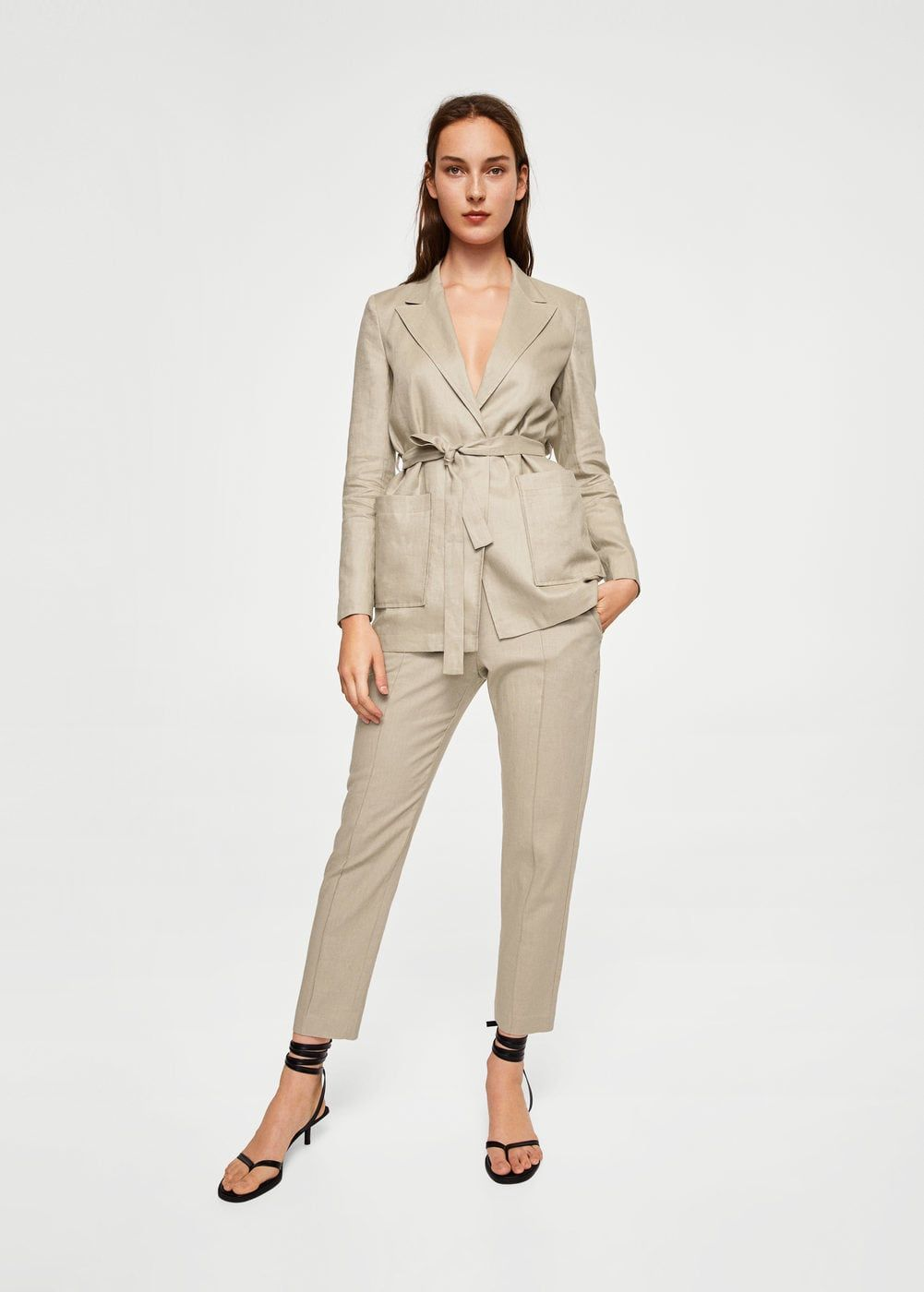 504cf3e783 Belt linen blazer - Women in 2019