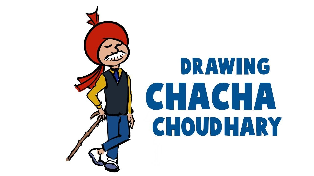 How To Draw And Color Chacha Chaudhary In Krita | Diamond