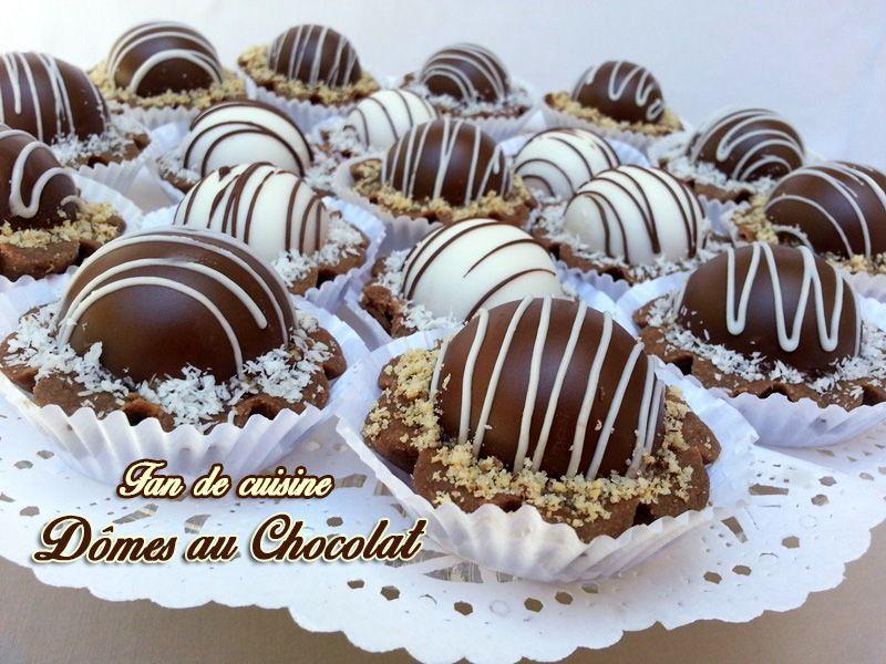 Dômes au chocolat
