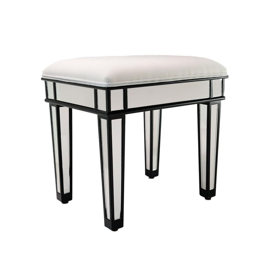 Tremendous Ella Luxe Mirrored Vanity Stool Makeup Vanity Vanity Andrewgaddart Wooden Chair Designs For Living Room Andrewgaddartcom