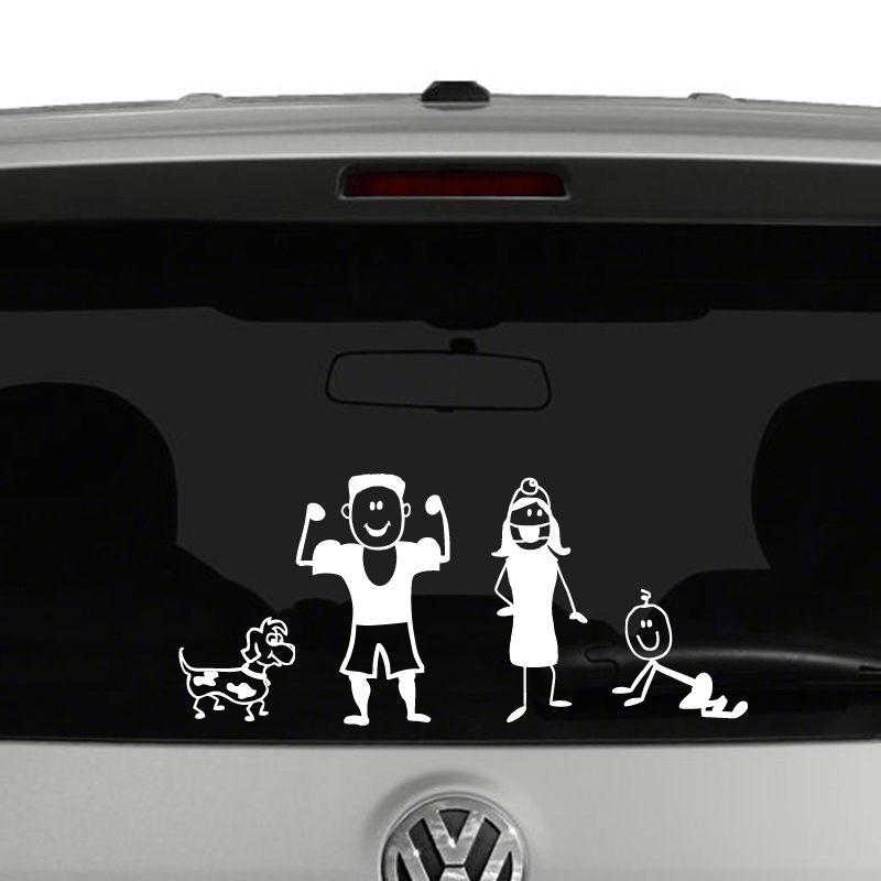 Stick Figure Family Create Your Own Vinyl Decal Sticker Car Window - Create car decals