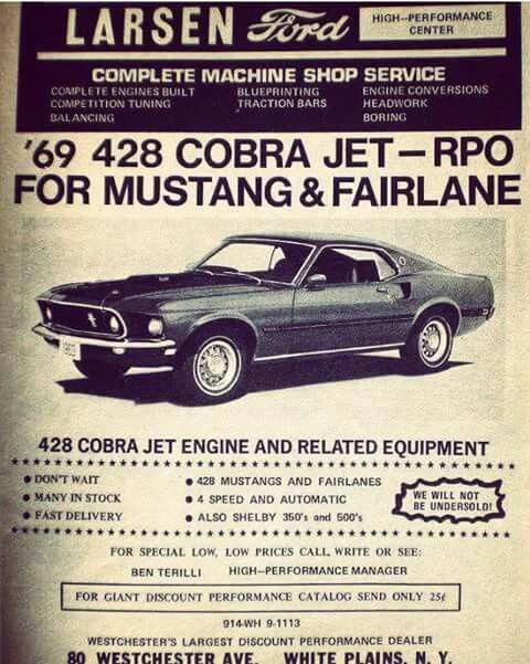1969 Ford Mustang 428 Cobra Jet Mustangclassiccars Muscle Car