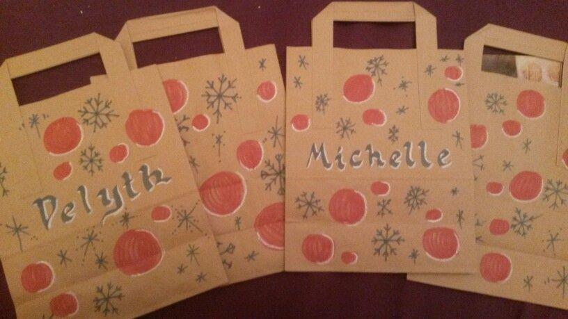 Easy home made Christmas gift bags