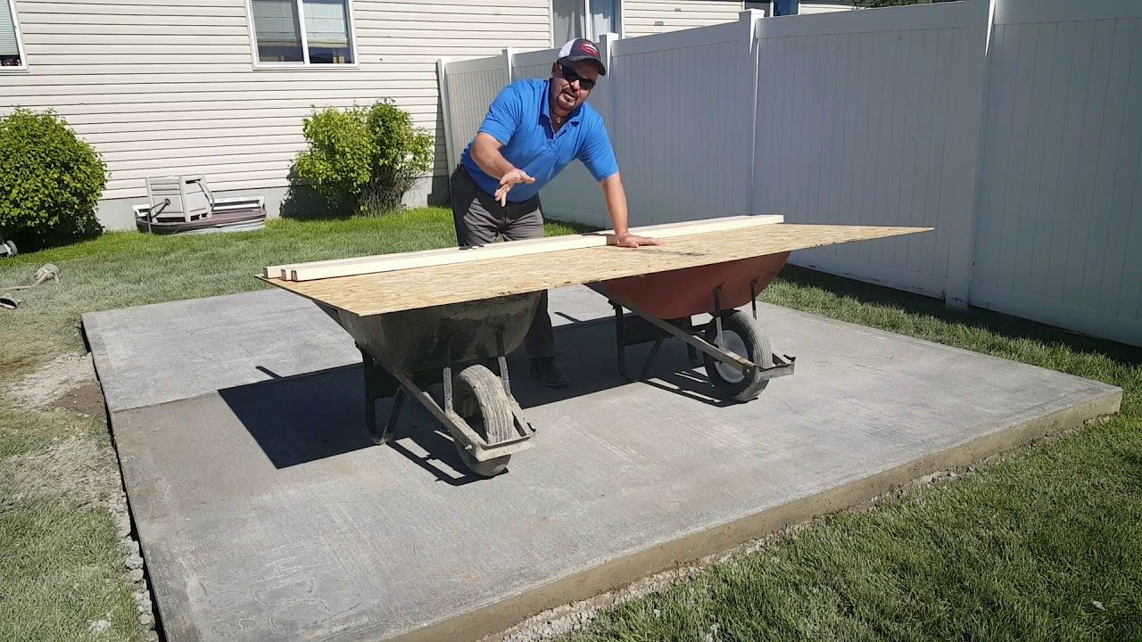 Building a Jig for Wall Panels for Air Crete Shed | Air