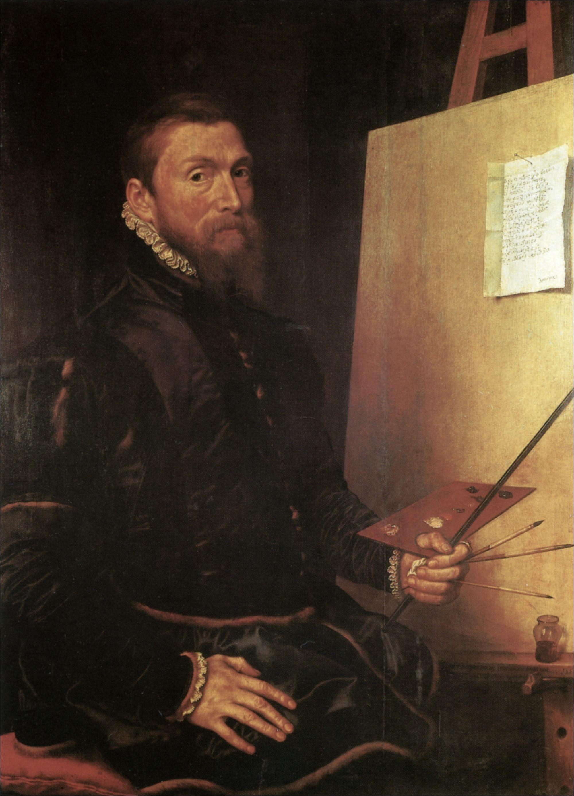 Antonis Mor, Zelfportret, 1558