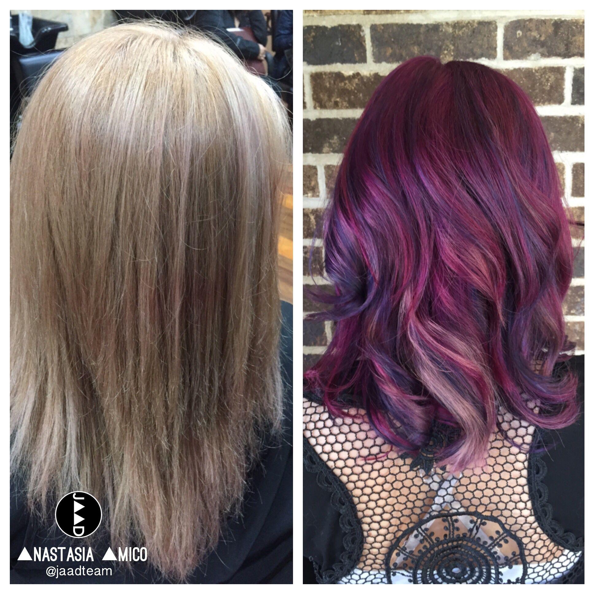 formula blueberrygrape color swirl hair and makeup