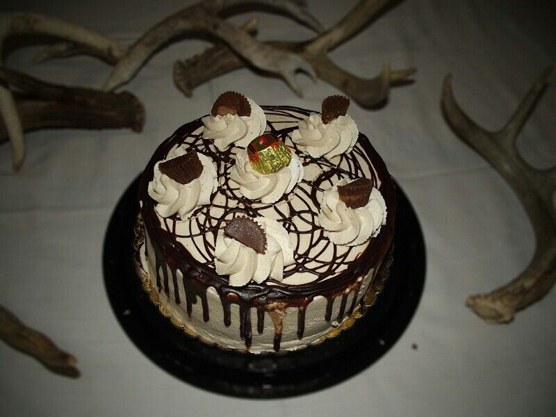 My Birthday cake, yummy.....  just perfect with the antlers too.