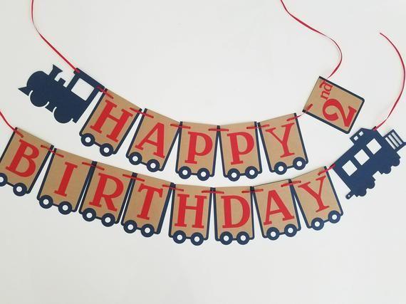 Train Happy Birthday Banner Express Choo