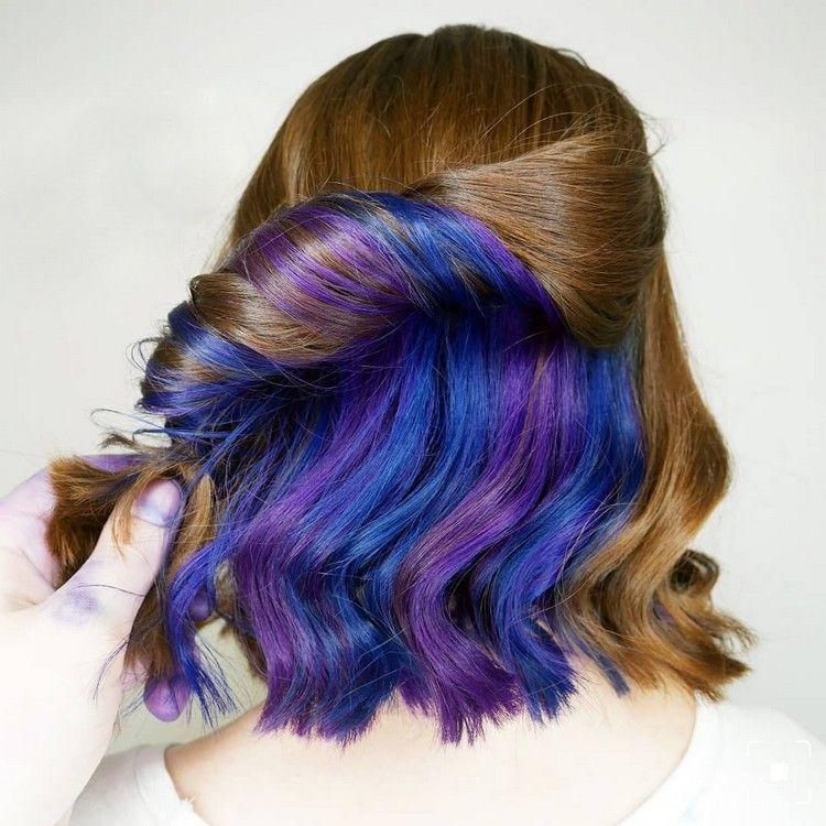 underlights trend strähnchen blau lila in 2019 | Hair