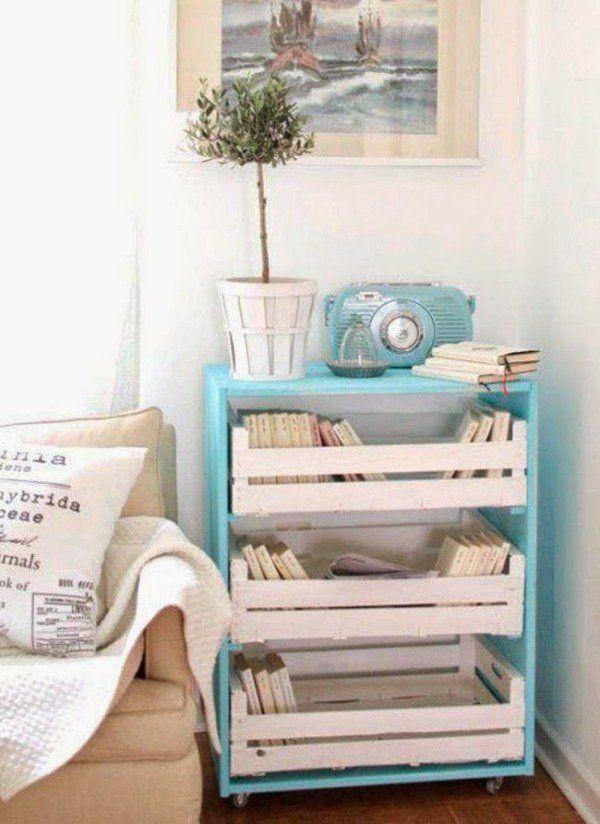 Palette Europe - 39 idées pour en fabriquer des meubles! - meuble en bois repeint