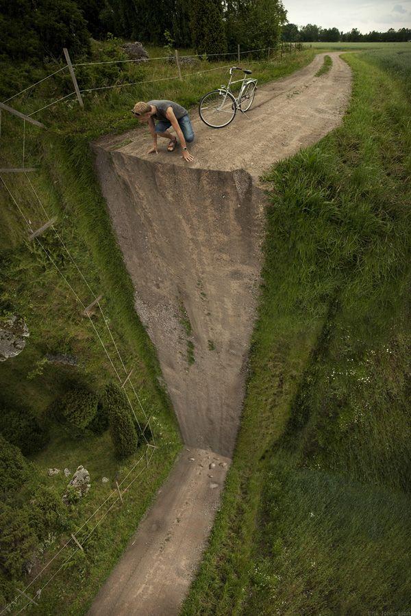 Un tournant à la verticale : 20 photographies transformées enillusions d'optique - Linternaute