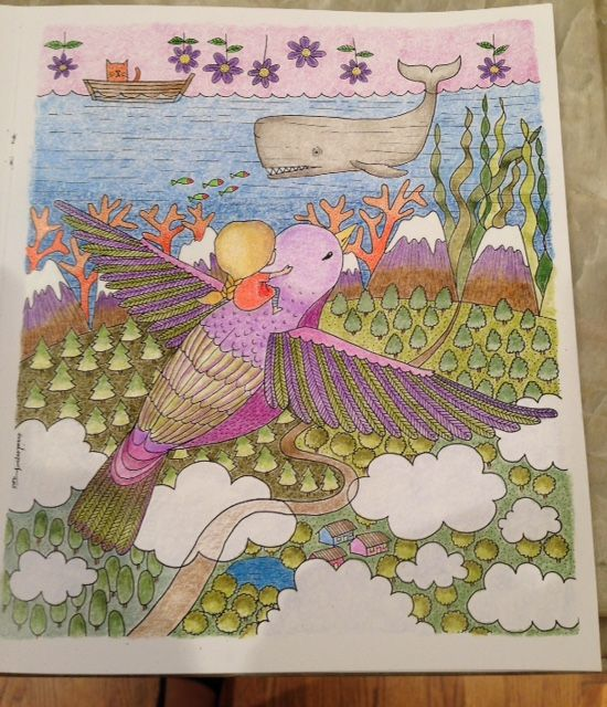 From Emila Yusofs Coloring Book Titled Dream World Yusuf Colourart