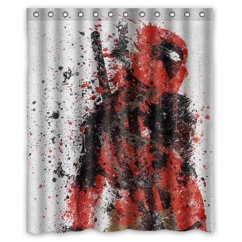 Deadpool Shower Curtain 60 X 72 Inches Shower Curtain Curtains