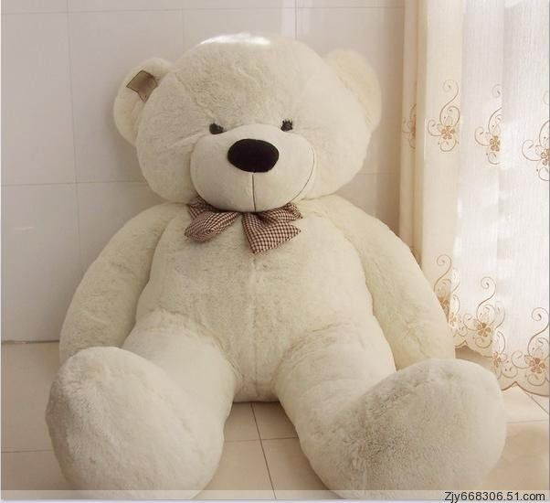 Stuffed Animal Kids Soft Toy Cuddly Christmas Gift Plush White Teddy Bear