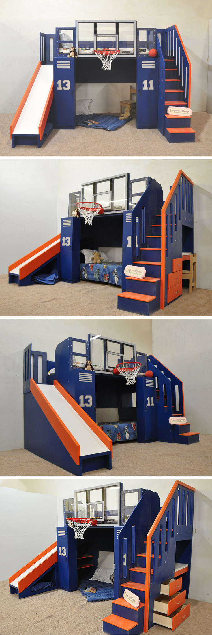 Wooden loft bed with slide  Get the Ultimate in function and the Ultimate in fun The Ultimate