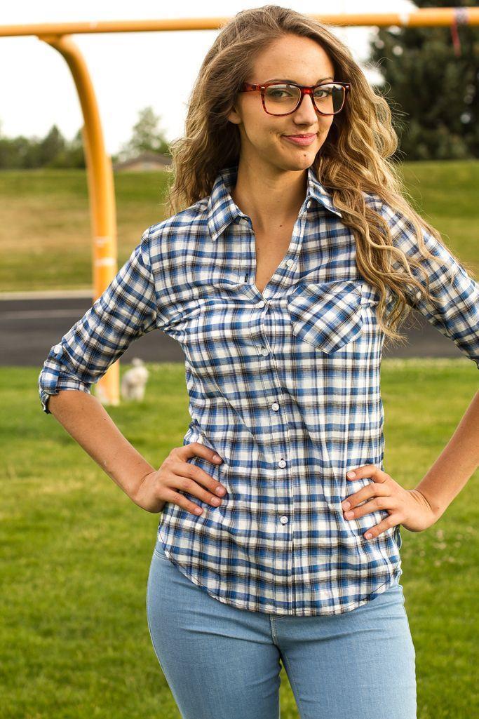 My Sisters Closet - Abbey Plaid Top, $20.00 (http://www.mysisterscloset-boutique.com/abbey-plaid-top/)