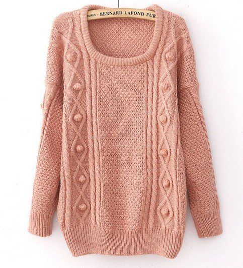 Pink Wool Loose Thicker Sweater | Fluent in Fashion | Pinterest ...