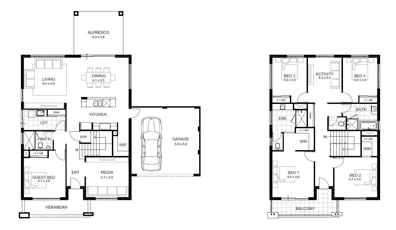 Double Storey Lifestyle Range Perth apg Homes House