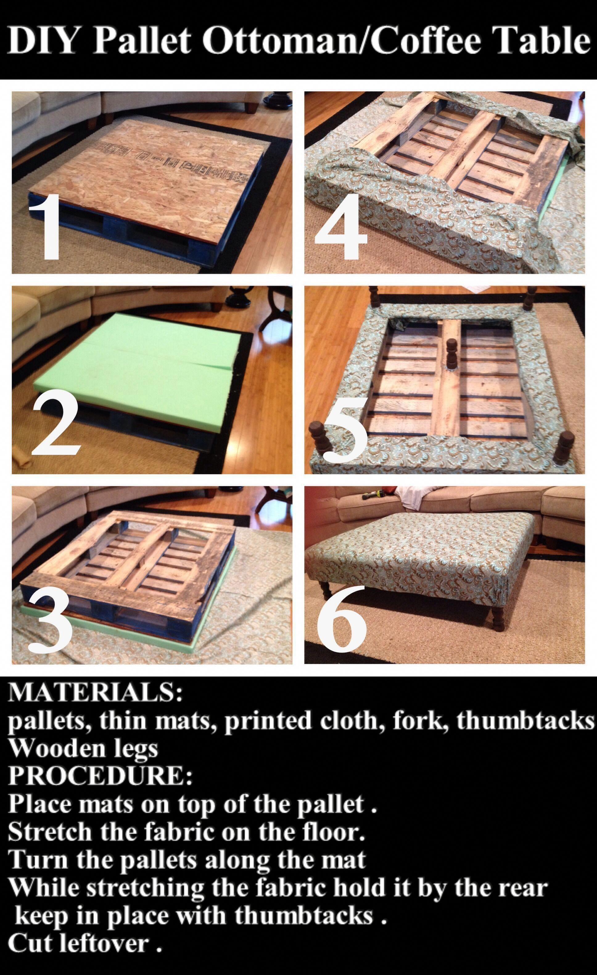 Diy Pallet Ottoman Coffee Table Diyhomedecorpictures Rangement Couture Diy Mobilier De Salon [ 3162 x 1936 Pixel ]