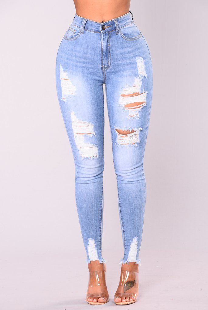 Alyse Distressed Jeans Medium | Cute ripped jeans, Womens