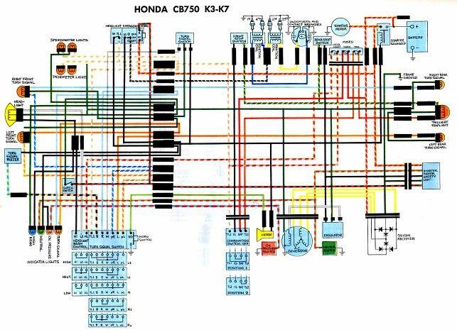 CB750 Wiring Diagram K3-K7Pinterest