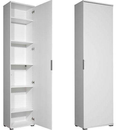 Trento High Gloss White Wardrobe/Multipurpose Cabinet, 3016-84 ...