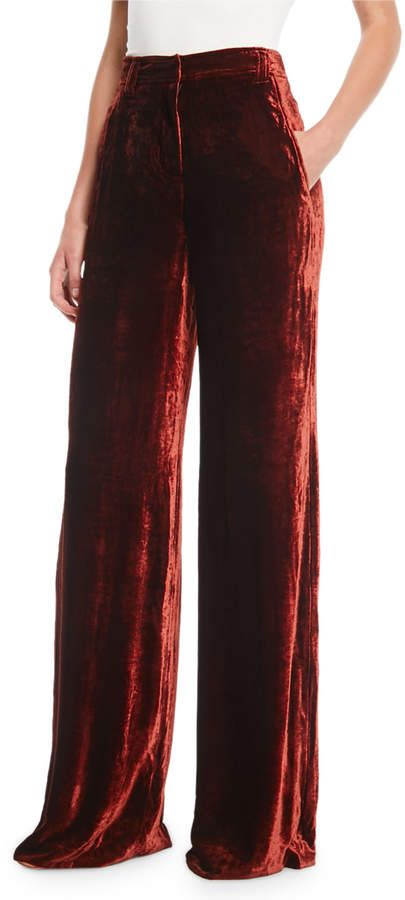 strong packing 2019 clearance sale select for genuine A.L.C. Ashbury Wide-Leg Velvet Pants | Products | Velvet ...