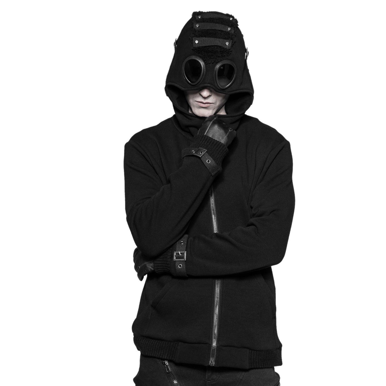 günstige schwarze gothig winter jacken