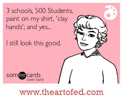 """If you are like me, there are probably days you wonder """"why did I even bother to get ready today?!"""" – As an art teacher, our job is pretty physical. With recess duty, hat hair, and clay hands, and sore feet from standing all day, it's a wonder we come out in once piece –  but ahh yes, art teachers are resilient bunch – we don't just do this job with grace, WE MAKE IT LOOK EASY! Carry on, my friends, you are rocking it!"""