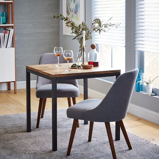 Box Frame Square Dining Table Wood West Elm For The Eat In