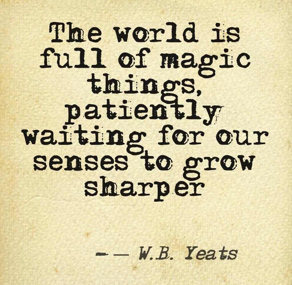 Wb yeats essay magic