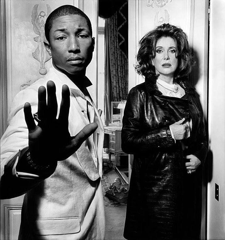 unpetitpeudepetitspois:   Pharrell Williams and... - LA BELLE DENEUVE