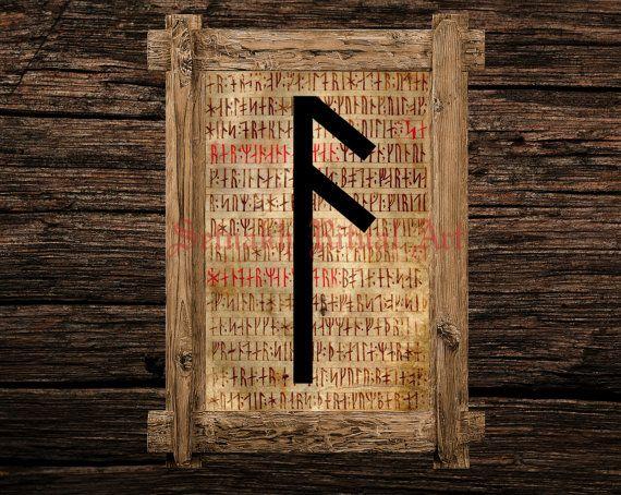 Ansuz Print Rune Ilration Elder Futhark Art Viking Home Decor Magical Norse Magick Magic Occult Canvas Poster 339 4