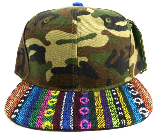 Wholesale Native Aztec Plain Snapback Hats - Green Camo  82c39396e88b