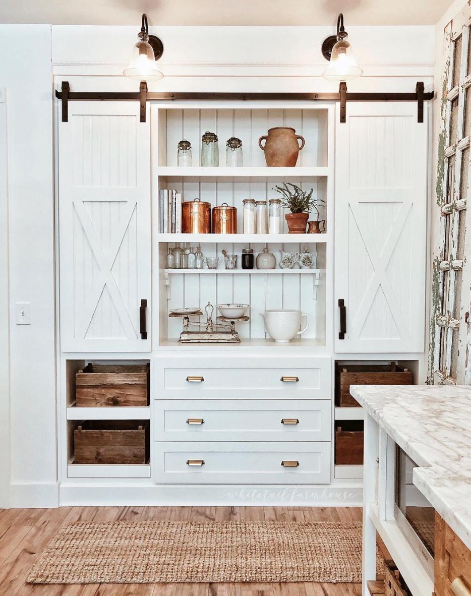 The 15 Most Beautiful Kitchens On Pinterest Sanctuary Home Decor Kitchen Barn Doors Kitchen Pantry Design Home Decor Kitchen