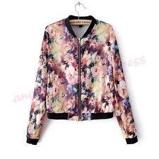 Women Fashion Floral Print Long Sleeve Leisure Blazer Coat Jacket Suit Outerwear